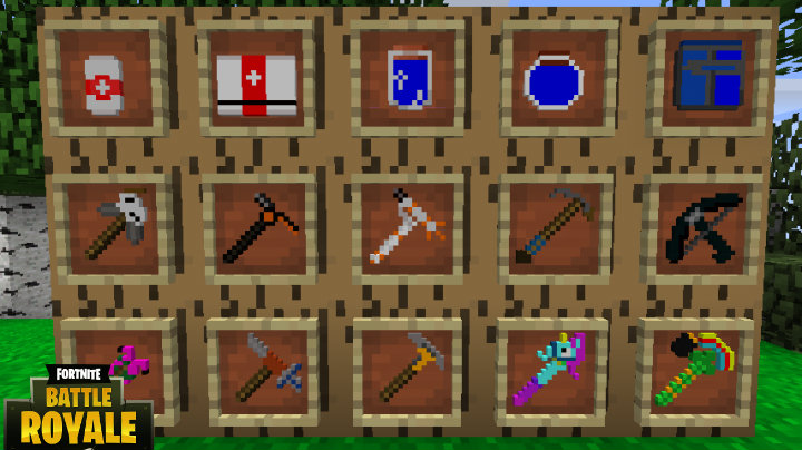 descarga pack texturas fortnite para minecraft