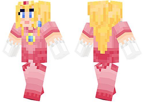 Princesa Peach skins minecraft para chicas
