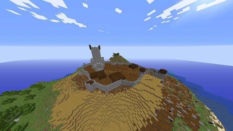 Mapa de supervivencia The Kingdom Survival para minecraft