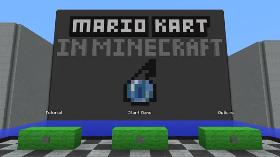 Mario Kart in Minecraft Map