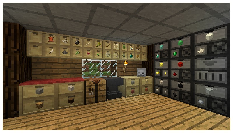 Storage Drawers Mod para minecraft